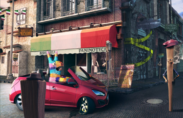 Piñatas - bridgestone - Lamano Studio - Photography - Post Production - Illustration - Animation - CGI - Character Design - Craft