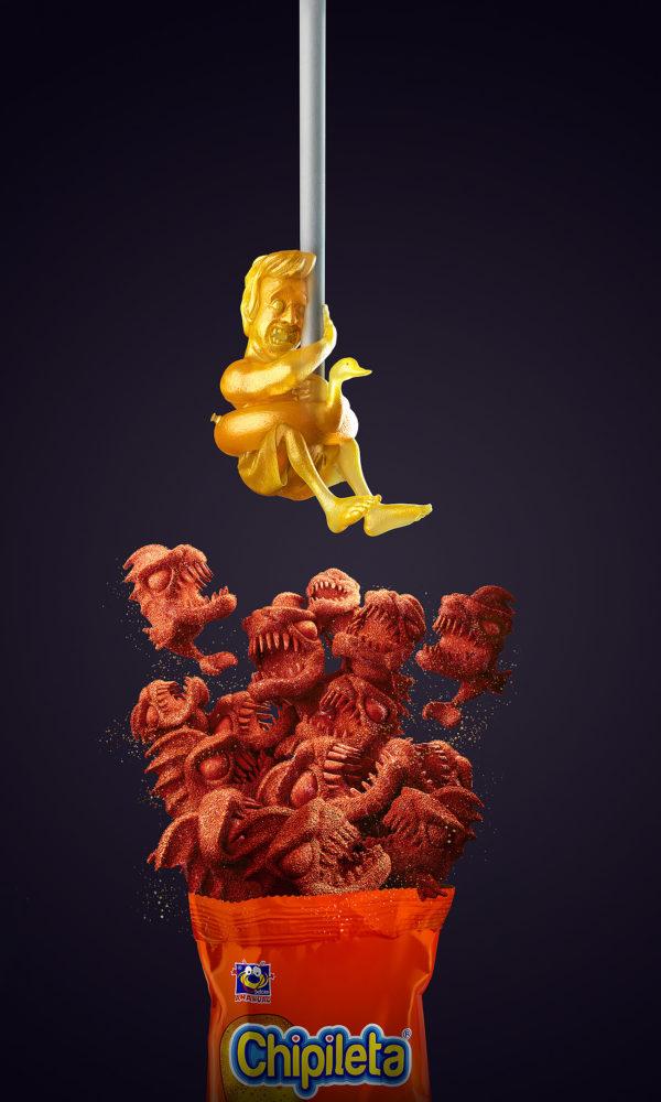 Chipileta - Piranhas - Lamano Studio - Illustration - Post Production - CGI - Animation - Handcraft - Photography