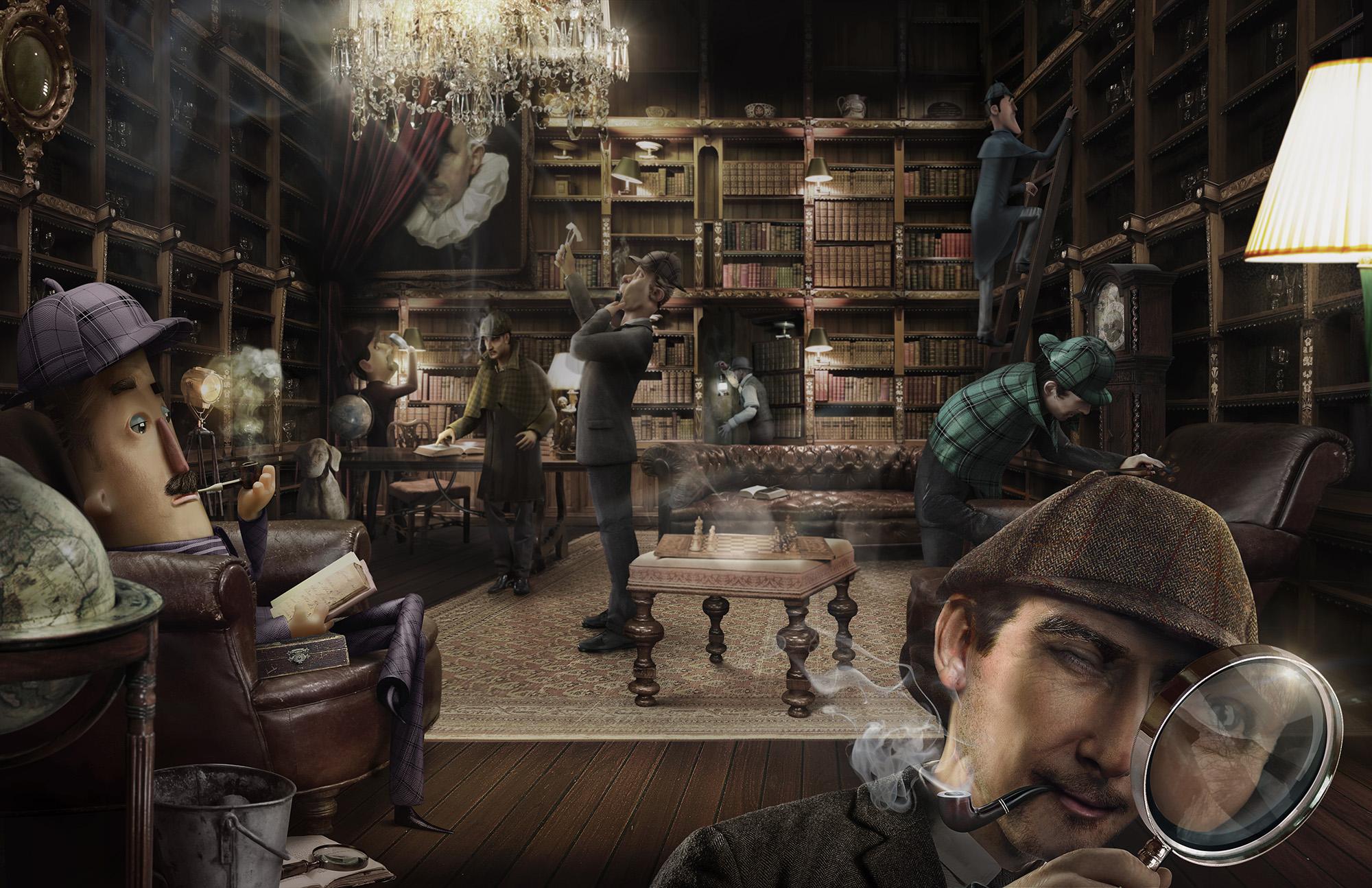 Asociación de Editores de Madrid - Sherlock - Lamano Studio - CGI - Post Production - Illustration - Animation - Photography