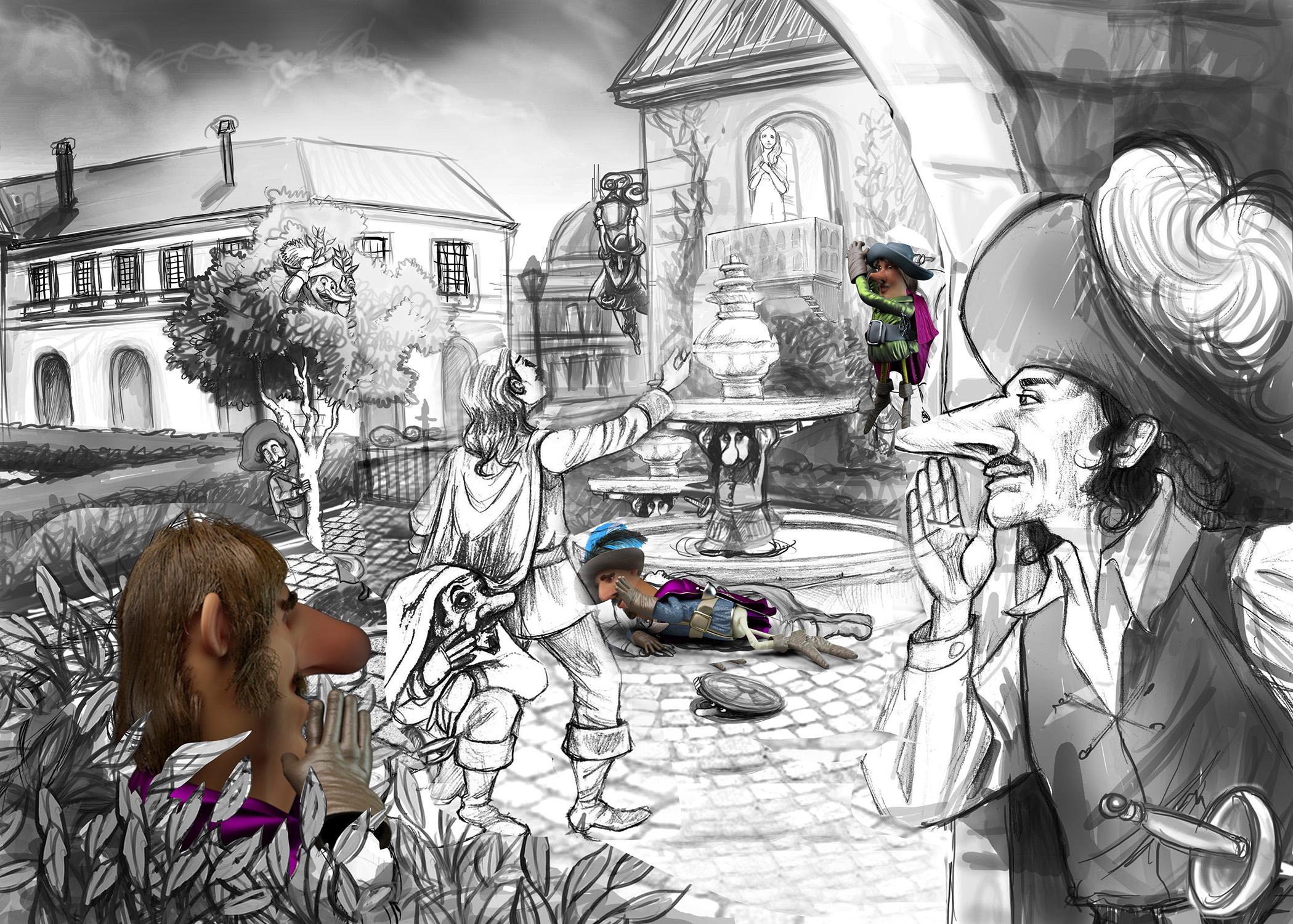 Cyrano Sketch - Lamano Studio Illustration Post Production Cgi Animation Photography